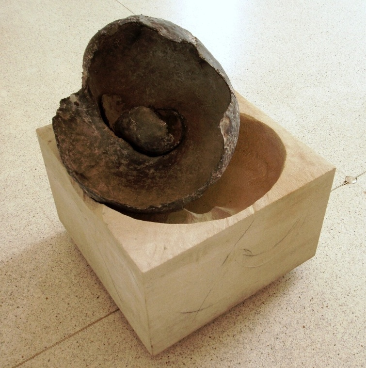 DETECTION OF SPACE, 2008,  cast iron, sandstone, 72x70x61 cm