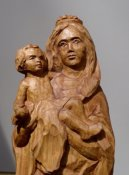 Madonna with the baby, detail, limewood, 38 cm