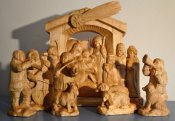 Nativity scene, limewood, high 47 cm